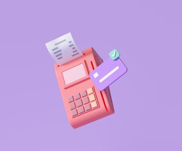 Concepto de terminal de pago en línea