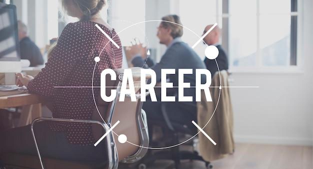 Concepto de trabajo de empleo de carrera