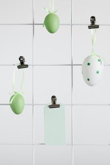 Concepto tradicional de huevos de pascua