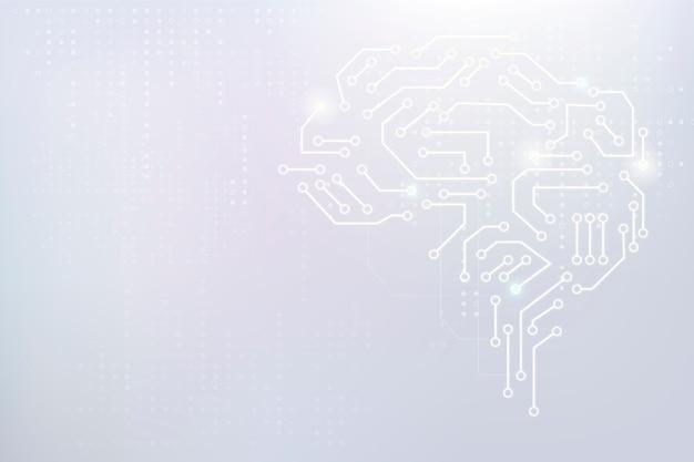 Concepto de transformación digital de fondo de cerebro de tecnología ai