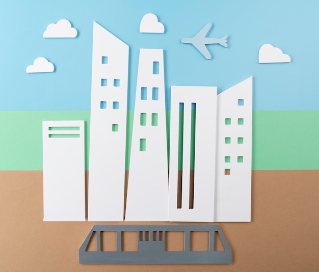 Concepto de transporte de la ciudad con tranvía.