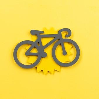 Concepto de transporte urbano con bicicleta.