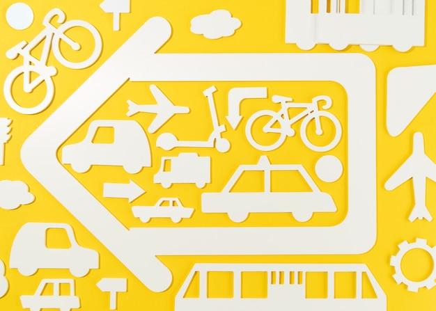 Concepto de transporte con vehículos.