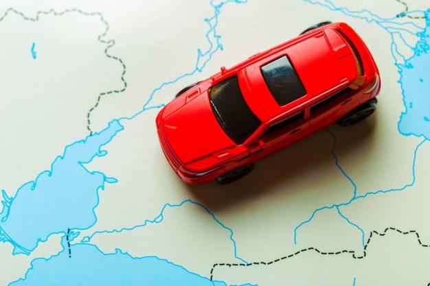 Concepto de transporte y viaje.