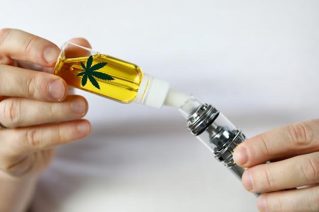 Concepto de tratamiento de marihuana medicinal