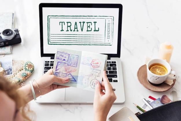 Concepto de turismo de destino de viaje de vacaciones de vacaciones