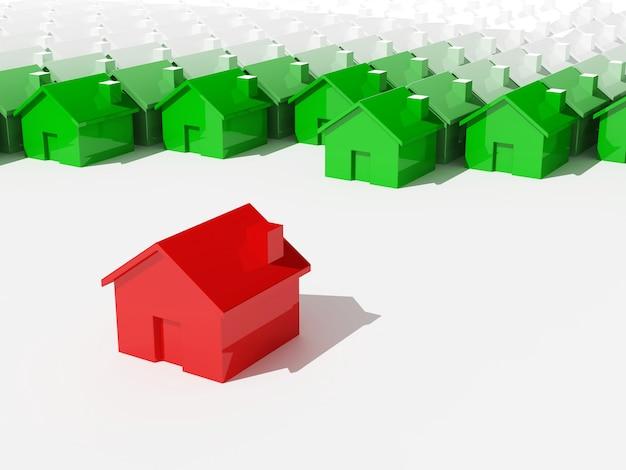 Concepto único de construcción de viviendas