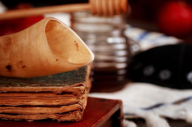 Concepto de vacaciones de año nuevo judío de rosh hashaná.