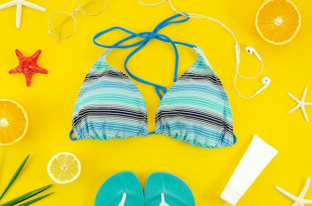 Concepto de vacaciones de playa de verano