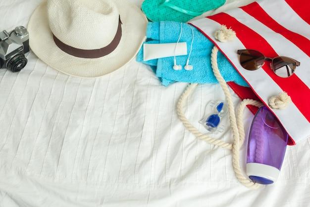 Concepto de vacaciones de verano familiar
