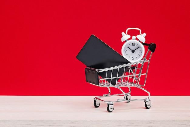 Concepto de venta de compras de viernes negro