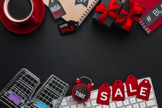 Concepto de venta con espacio de copia