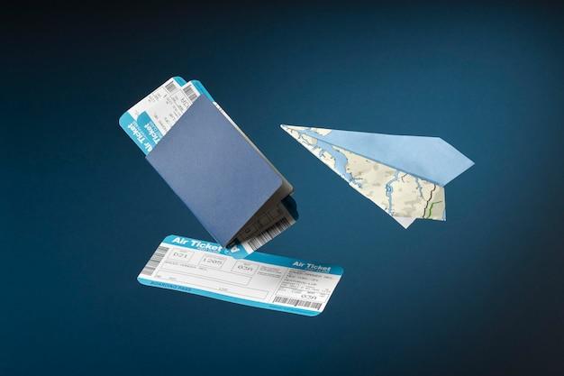 Concepto de viaje con documentos