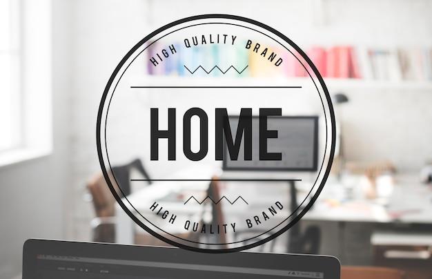 Concepto de vida residencial casa hogar