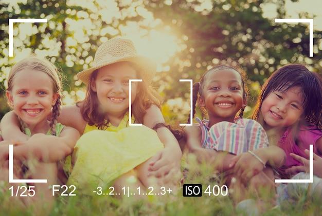Concepto de vista de cámara de enfoque de fotografía