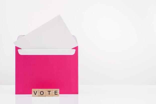 Concepto de votación por correo.