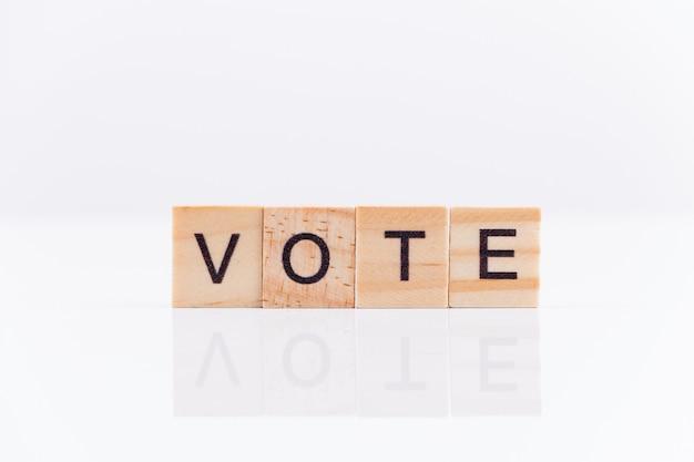 Concepto de votación. la palabra