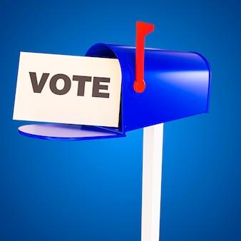 Concepto de voto de elecciones de estados unidos