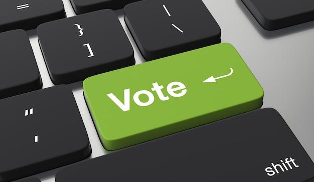Concepto de voto en línea