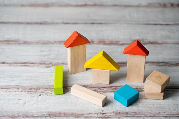 Concepto de wood home & housing estate