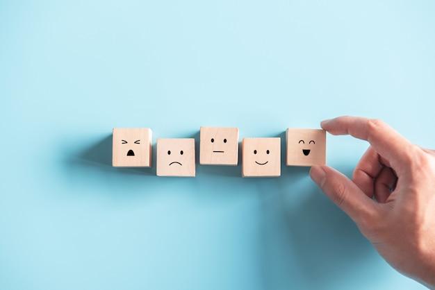 Conceptos de encuesta de satisfacción y evaluación de servicio al cliente.