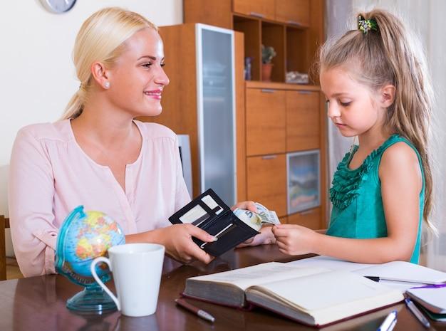 Concesión de dinero de bolsillo