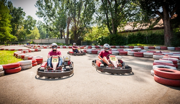 Concurso deportivo kart speed drive race
