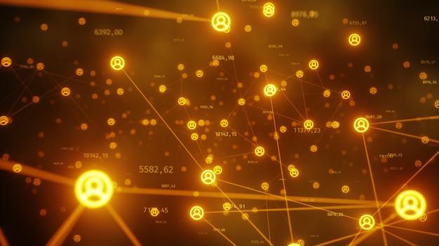 Conectando personas en internet, transformando nodos