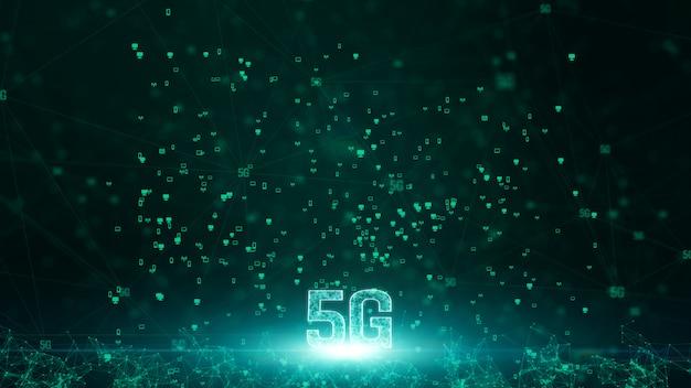 Conectividad 5g de datos digitales y tecnología de información conceptual futurista utilizando inteligencia artificial ai