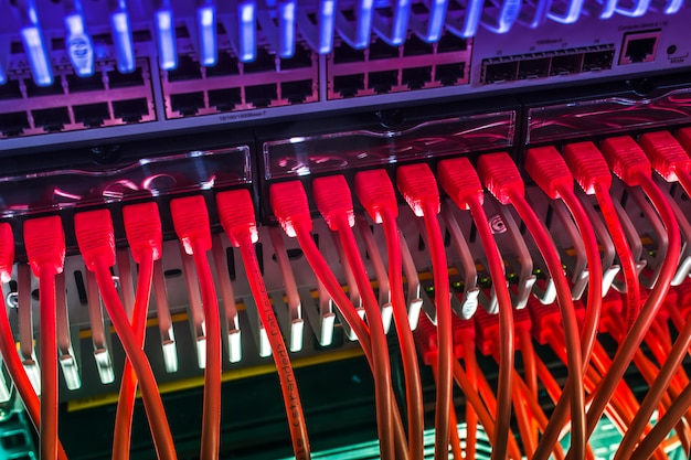 Conexión de alta velocidad al servidor de datos a través de protocolos ethernet