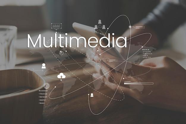 Conexión de comunicación en línea de la red global