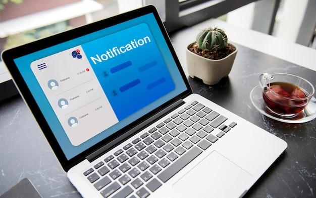 Conexión de comunicación mensaje en red
