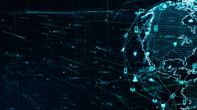 Conexión de datos de red de tecnología