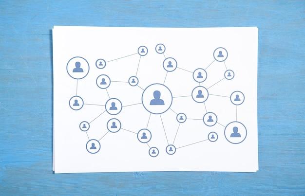 Conexión empresarial de personas. red social. comunicación