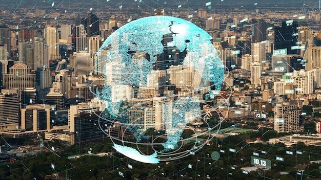 Conexión global y modernización de la red de internet en ciudad inteligente