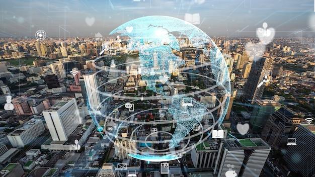 Conexión global y modernización de la red de internet en smart city