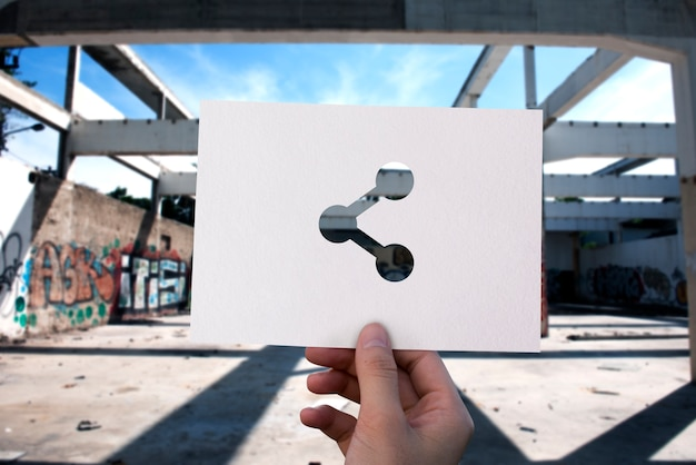 Conexión en línea de redes de papel perforado compartir