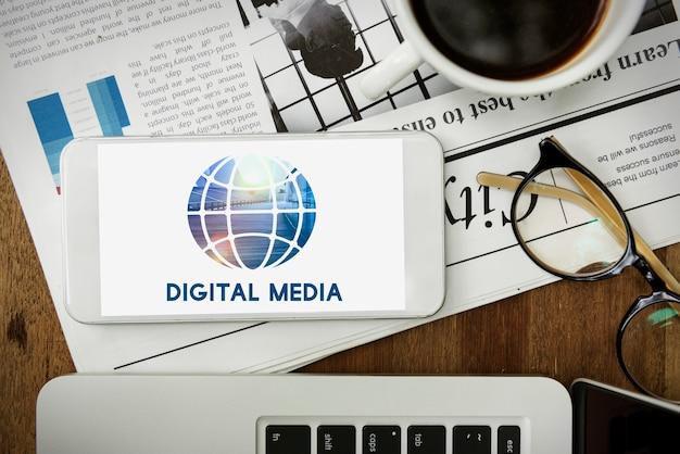 Conexión de redes sociales comunicación global