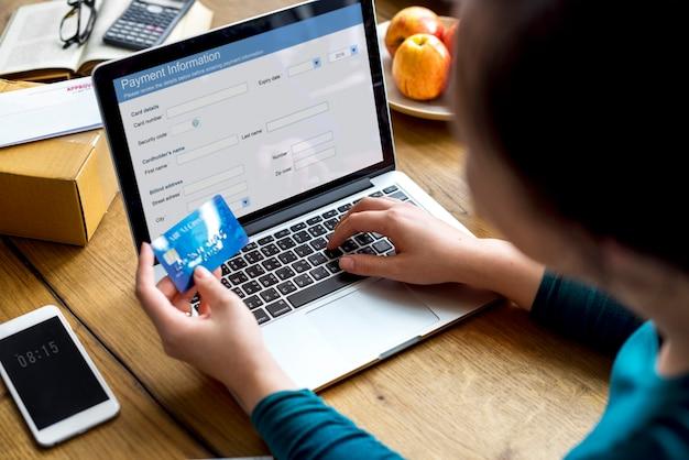 Conexión de sitio web financiero de pago de banca electrónica