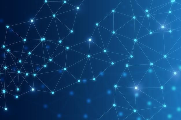 Conexión de tecnología empresarial en la nube y adn y cromosoma