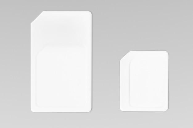 Conexión y telecomunicaciones de tarjeta sim blanca