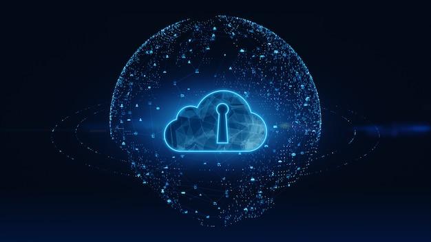 Conexiones de red de datos digitales computación en la nube y comunicación global