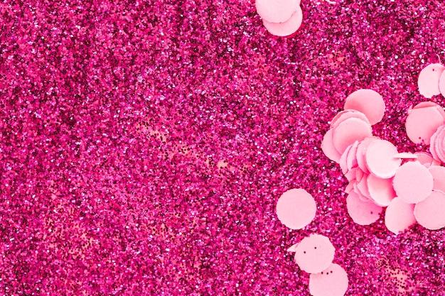 Confeti en brillos rosas