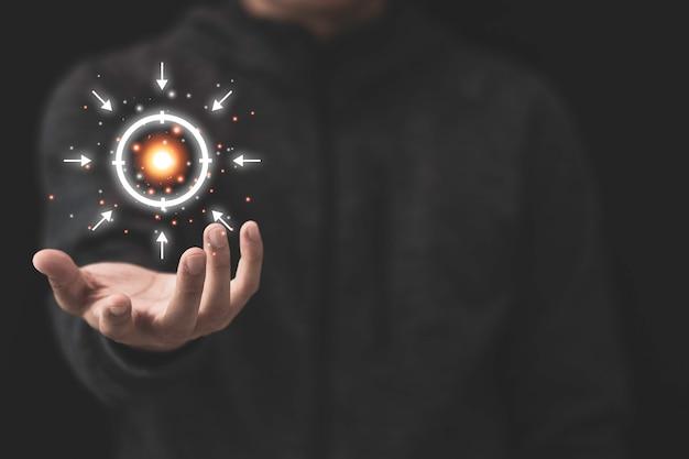 Configurar objetivos y destino para el concepto de inversión empresarial