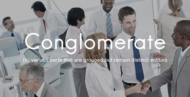Conglomerate alliance business colabora team concept