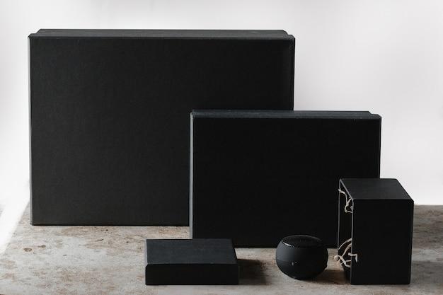 Conjunto de caja de regalo en blanco