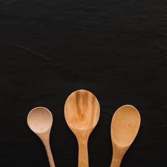 Conjunto de cucharas de madera