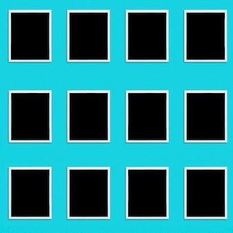 Conjunto de fotos en blanco de polaroid