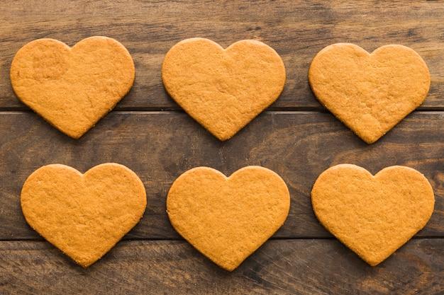 Conjunto de deliciosas galletas frescas