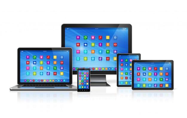 Conjunto de dispositivos informáticos